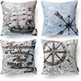 "Amazon Price History for:PHANTOSCOPE New Living Series Decorative Throw Pillow Case Cushion Cover 18"" x 18"" 45cm x 45cm Set of 4"