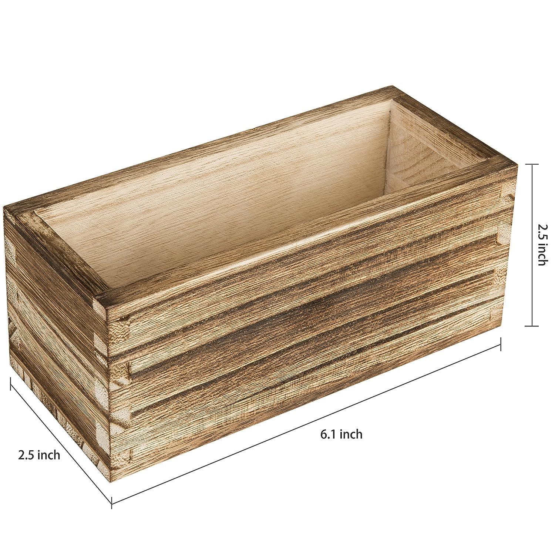 MyGift - Juego de 3 bandejas magnéticas rústicas de madera atornillada: Amazon.es: Oficina y papelería