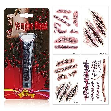 papapanda Sangre Artificial Vampiro Halloween Tatuaje Cicatriz ...