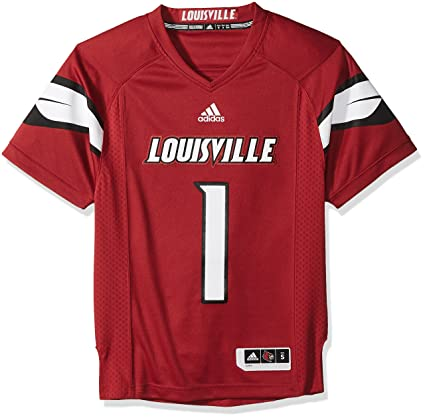 huge selection of bd51c f4e0c NCAA Louisville Cardinals Adult Men Premier Football Jersey, Small, Black