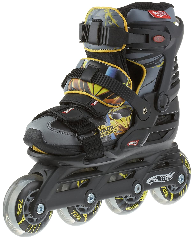 1 giallo da in linea nero in Pattini misura e colore 3 ghiaccio Hot Wheels Powerslide 31 xqZXUX