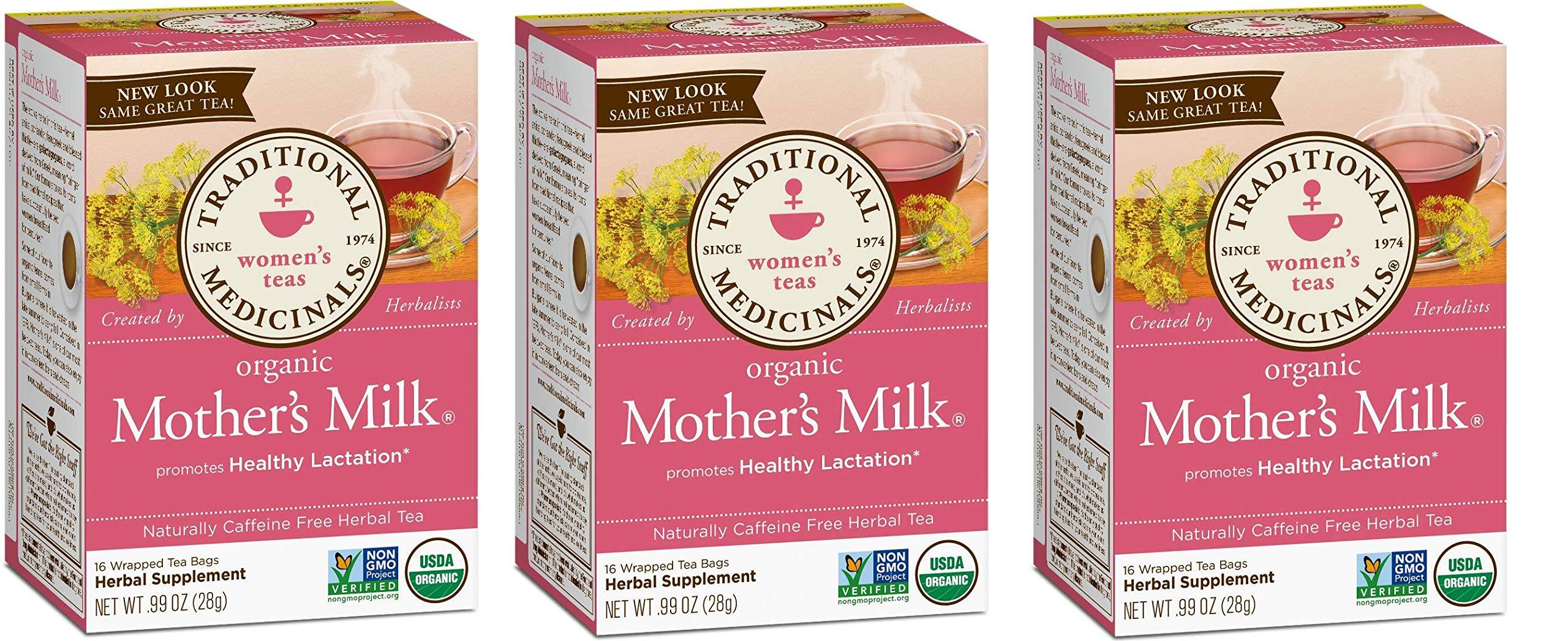 Traditional Medicinals Teas Organic Mother's Milk Tea Bags, 16 Count - 3 Pack by Traditional Medicinals