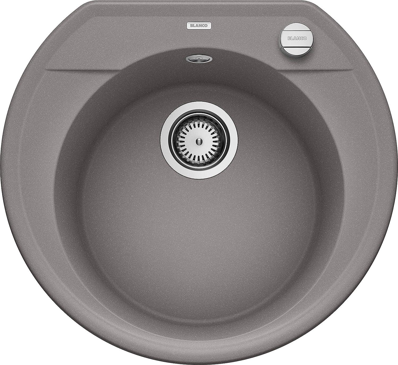 515659 gris BLANCO rond ovale 45/S /évier de cuisine /évier de granit en SILGRANIT PuraDur 1/pi/èce