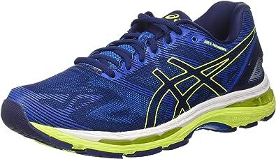 Asics Gel-Nimbus 19, Zapatillas de Running para Hombre, Azul (Indigo Blue/Safety Yellow/Electric Blue), 44 EU: MainApps: Amazon.es: Zapatos y complementos