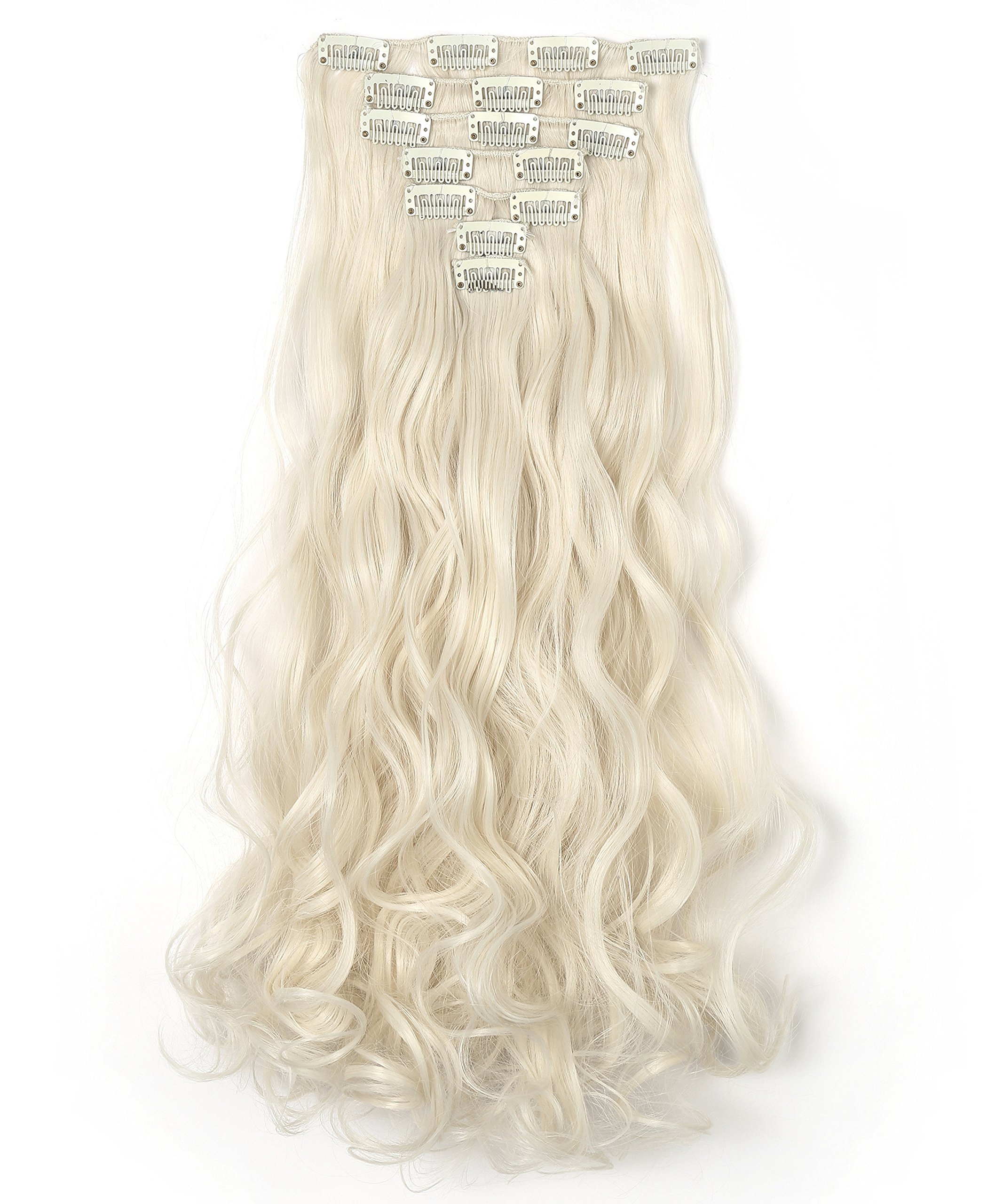 Amazon Onedor 20 Curly Full Head Clip In Synthetic Hair