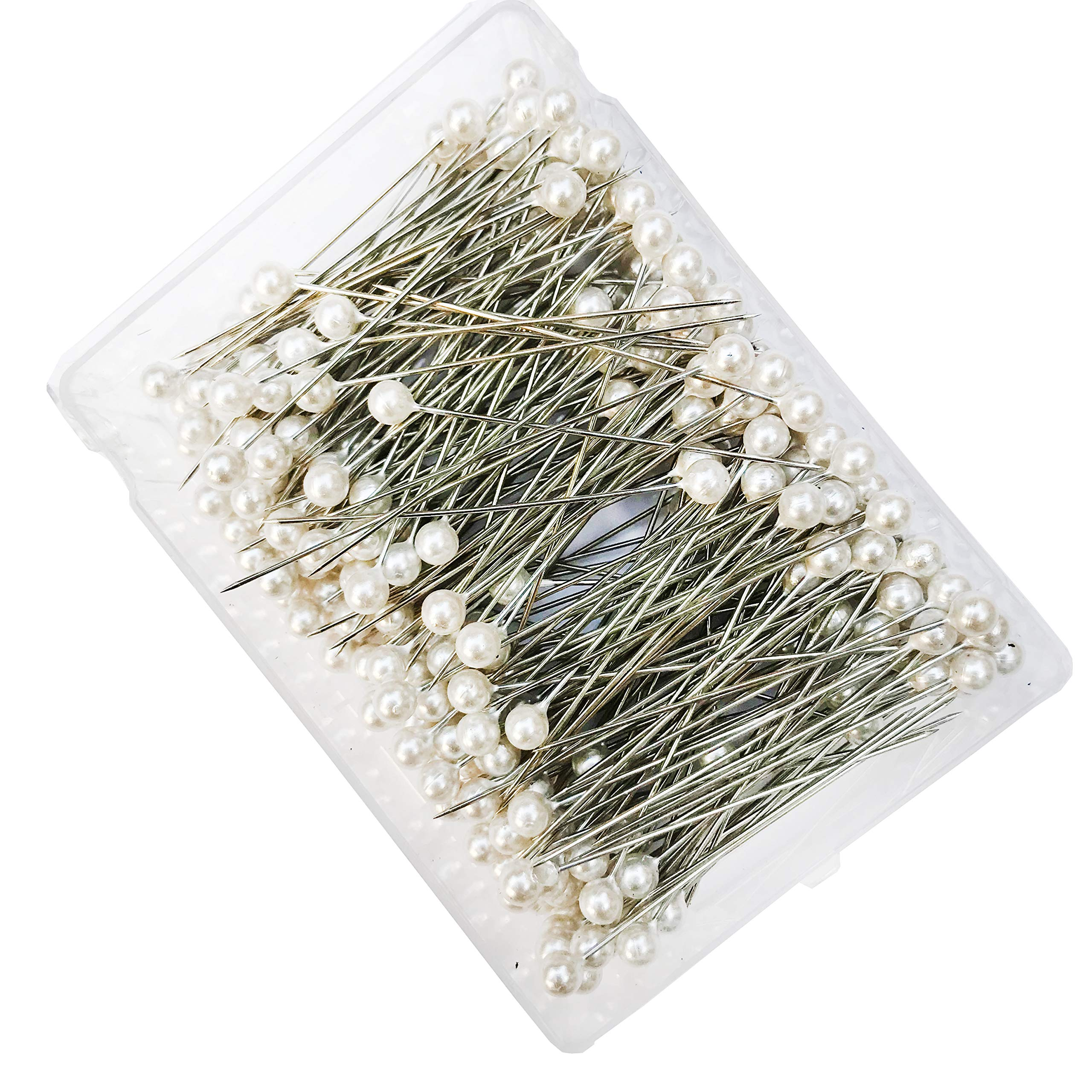 288Pcs (6mm 2.5'' L) Bulk Buy of White Pearl Teardrop Corsage Pins for Creating and Designing Florals