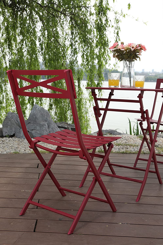 PHI VILLA - Juego de 3 muebles plegables para exteriores ...
