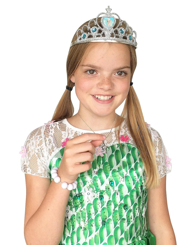 La Señorita Elsa Frozen Fever Vestido de Princesa para niña Capa largo disfraz verde (9-10 años - 140, verde) + Collar Frozen GRATUITO: Amazon.es: Juguetes ...