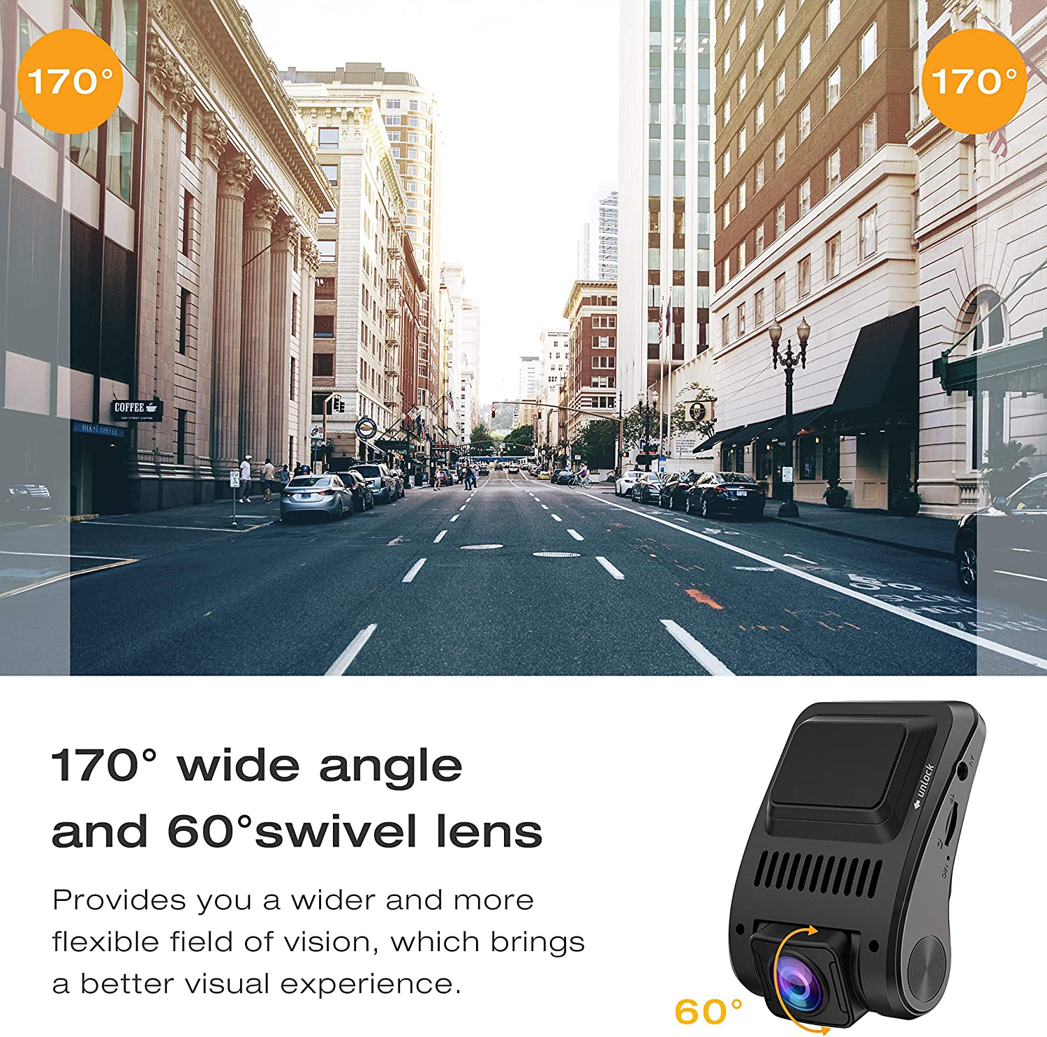 TOGUARD Upgraded Dash Cam 4K 3840x2160P GPS Dashboard Dash Camera for Cars 2 inch 170/° Wide Angle Vehicle Driving Recorder with Loop Recording Parking Monitor Travelapse White Balance