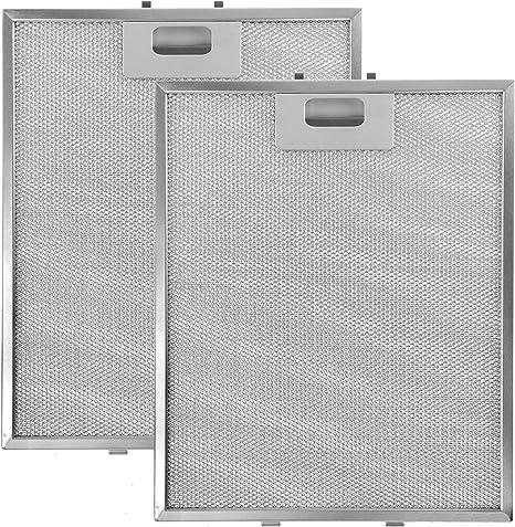 Spares2go Filtro de malla de aluminio para campana extractora KitchenAid (305 x 265 mm, 2 unidades): Amazon.es: Grandes electrodomésticos