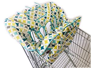 4 or 2 Leg Holes X-Large Size with Elastric Cushion for Twin Double Shopping Cart Cover for Baby Siblings