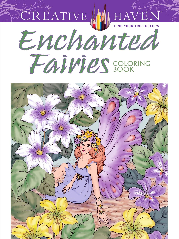Amazon.com: Creative Haven Enchanted Fairies Coloring Book ...