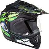 Vega Off Road D/V Fighter Black Green Helmet, M