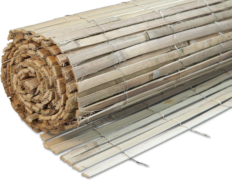 Windhager 665B - Estera de bambú de privacidad de pantalla 1 x 3 m