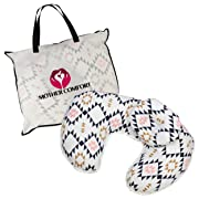 NURSING / FEEDING PILLOW with BONUS HEAD POSITIONER - TRIANGLE DESIGN - By Mother Comfort- Comfortable for both Mother and Baby - Removable Cotton Cover- Easy to Wash