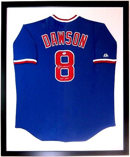 new arrival 8cd60 207e0 Andre Dawson Signed L Majestic Cubs Jersey & HOF Inscription ...