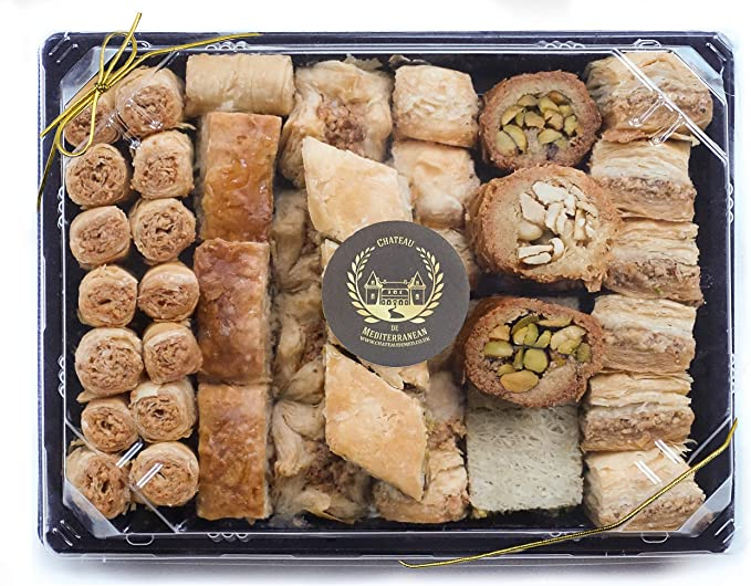 1kg Assorted Baklawa Baklava Home Made Recipe Freshly Baked And Shipped Uk Chateau De Mediterranean Amazon Co Uk Grocery