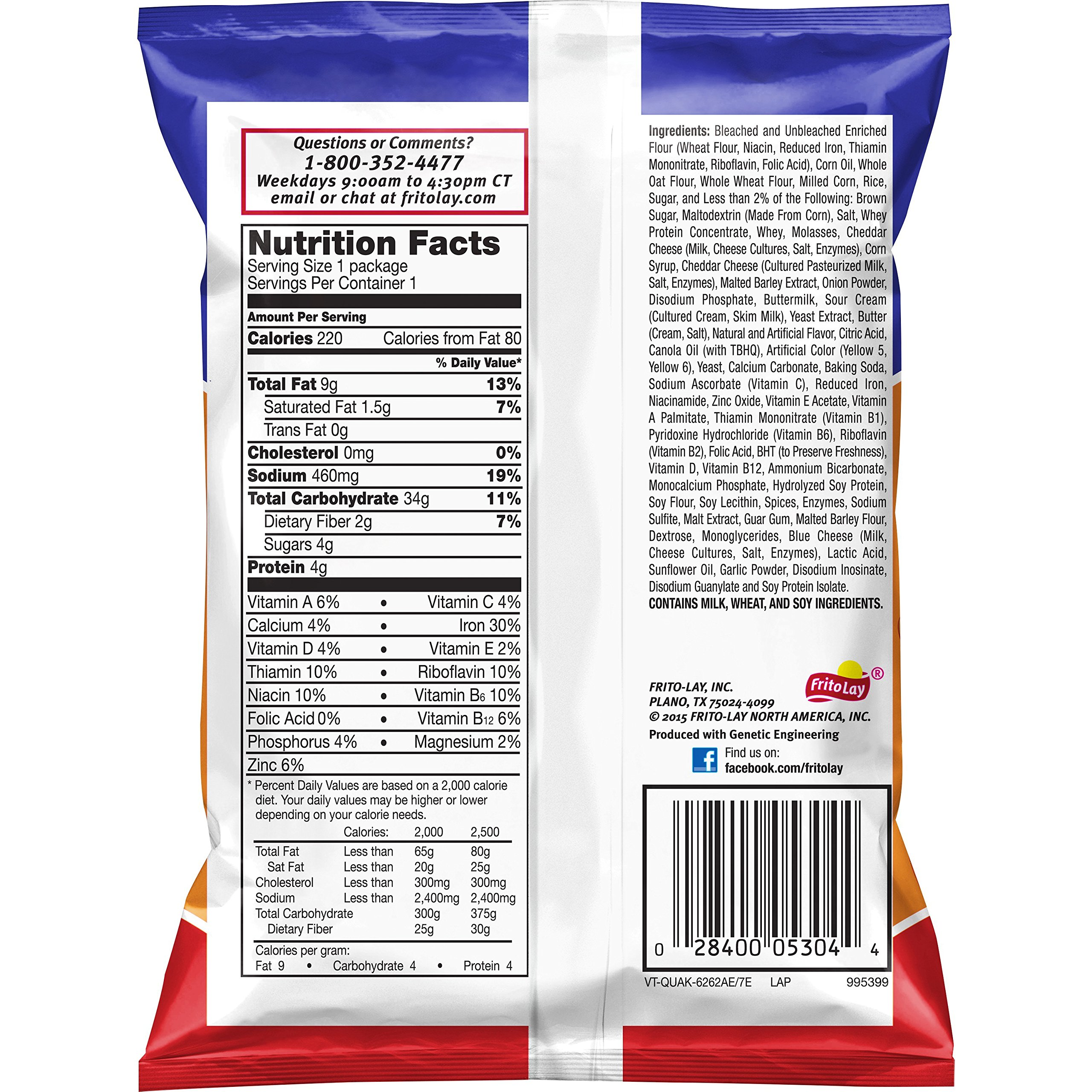 Quaker Snack Mix, Baked Cheddar, 1.75 Ounce (Pack of 64) by Quaker (Image #1)