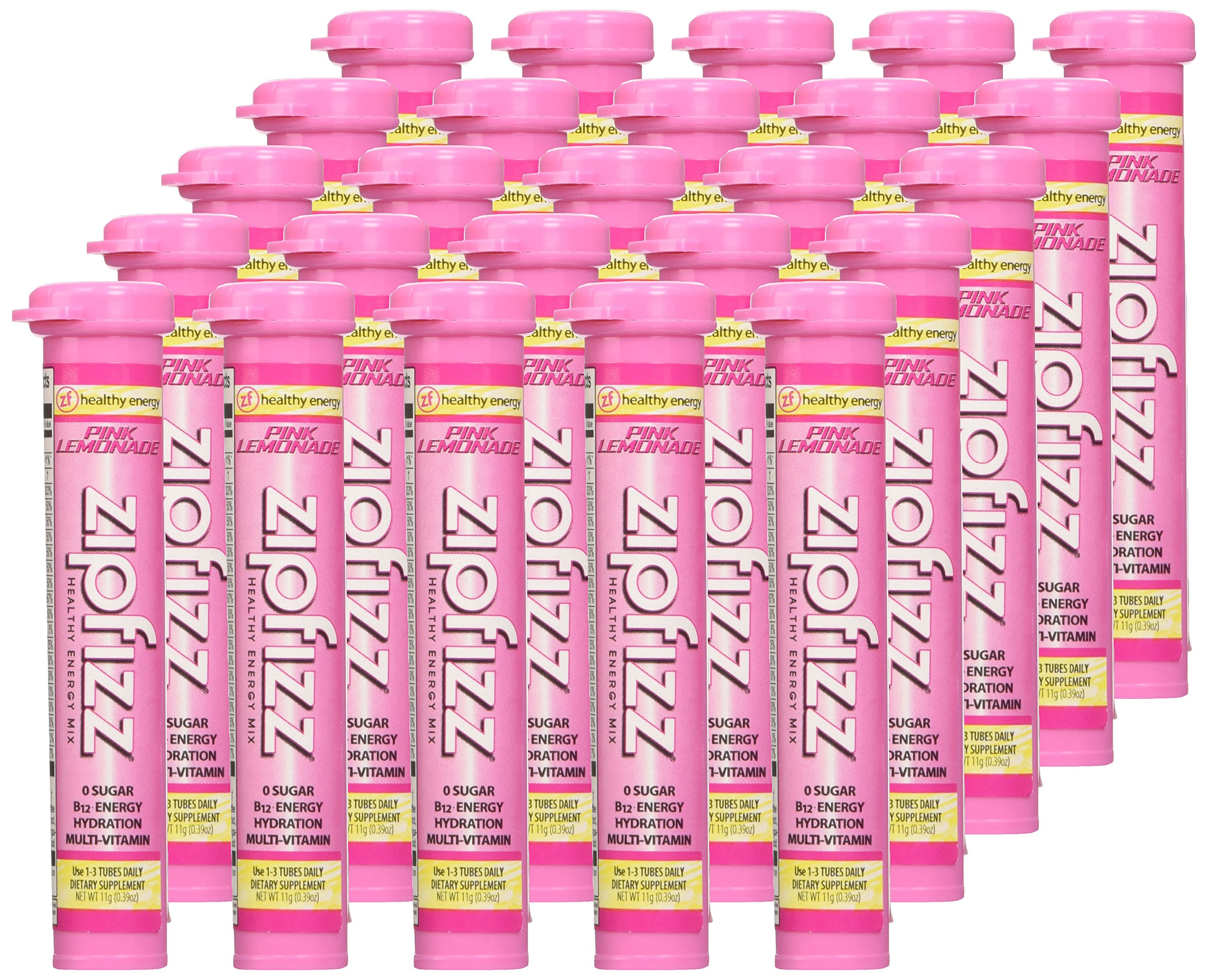 Zipfizz Pink Lemonade Healthy Energy Drink Mix - Transform Your Water Into  a Healthy Energy Drink - 30 Pink Lemonade Tubes