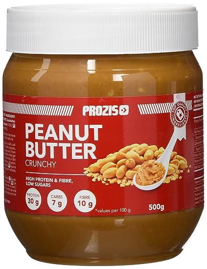 Prozis Foods Crema de Cacahuete, Sabor Crujiente - 500 gramos - [paquete de 6
