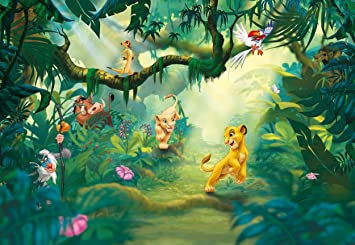 Lion King Jungle Disney Foto Tapete Wallpaper Mural 368x254cm