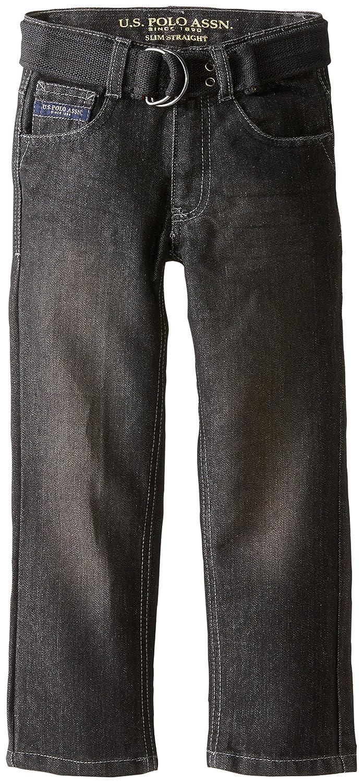 U.S. Polo Assn. Little Boys' Belted Five Pocket Jean US Polo Assn. Boys 4-7 HH26