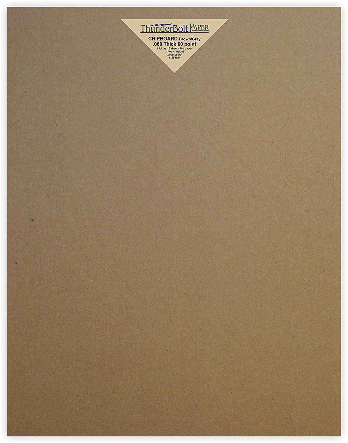4 Sheets Brown Chipboard 80 Point Extra Thick 11 X 14 Inches Photo|Scrapbook Size .080 Caliper XX Heavy Cardboard as Thick as 20 Sheets 20# Paper TBP