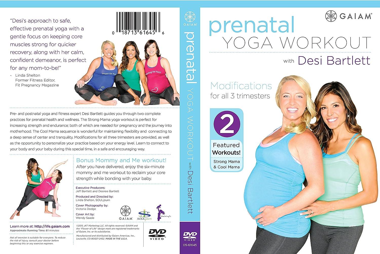 amazon com prenatal yoga workout with desi bartlett desi