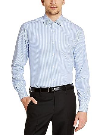 Tommy Hilfiger Homme Manches Longues Chemise habillée Bleu