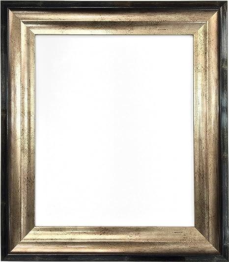 Cadre photo miroir cadre bois blanc gold 60 mm Photo Poster Cadre Toutes Les Tailles