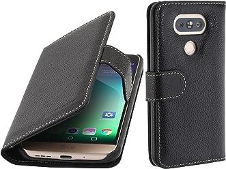 StilGut Talis, Custodia in Vera Pelle per LG G5 con Scomparti per Carte di Credito, Biglietti da Visita e Banconote, Nero