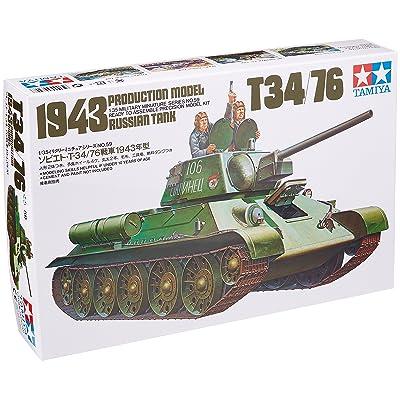 Tamiya 35059 1/35 Russian T34/76 1943 Tank Plastic Model Kit: Toys & Games