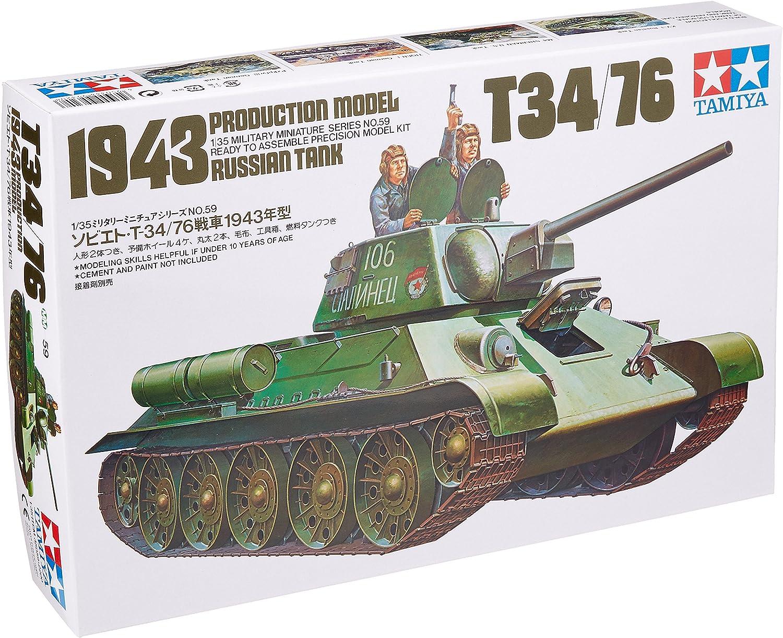 Tamiya 35059 1//35 Scale Model Kit WWII Russia Soviet Medium Tank T34-76 1943