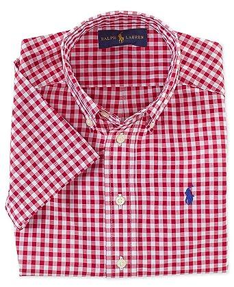 7d2e01e6 Amazon.com: RALPH LAUREN Polo Boys Gingham Short Sleeve Woven Shirt ...