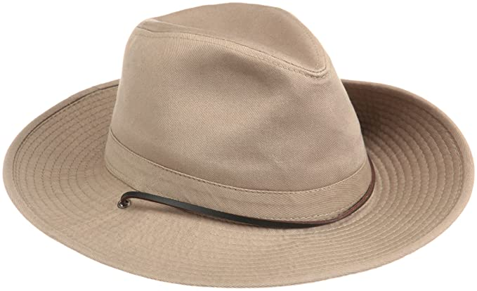 Dorfman Pacific Men s 1 Piece Garment Washed Twill Safari Hat with Side  Snaps  Amazon.co.uk  Clothing 4bc36b972ae