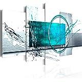 murando Bilder 200x100 cm - Leinwandbilder - Fertig Aufgespannt - Vlies Leinwand - 5 Teilig - Wandbilder XXL - Kunstdrucke - Wandbild - Abstrakt a-A-0012-b-p