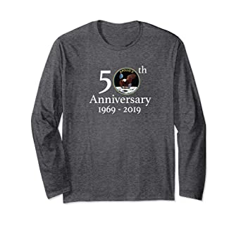 c4e77dfb Amazon.com: Apollo 11 50th Anniversary NASA Tee Long Sleeve Shirt: Clothing
