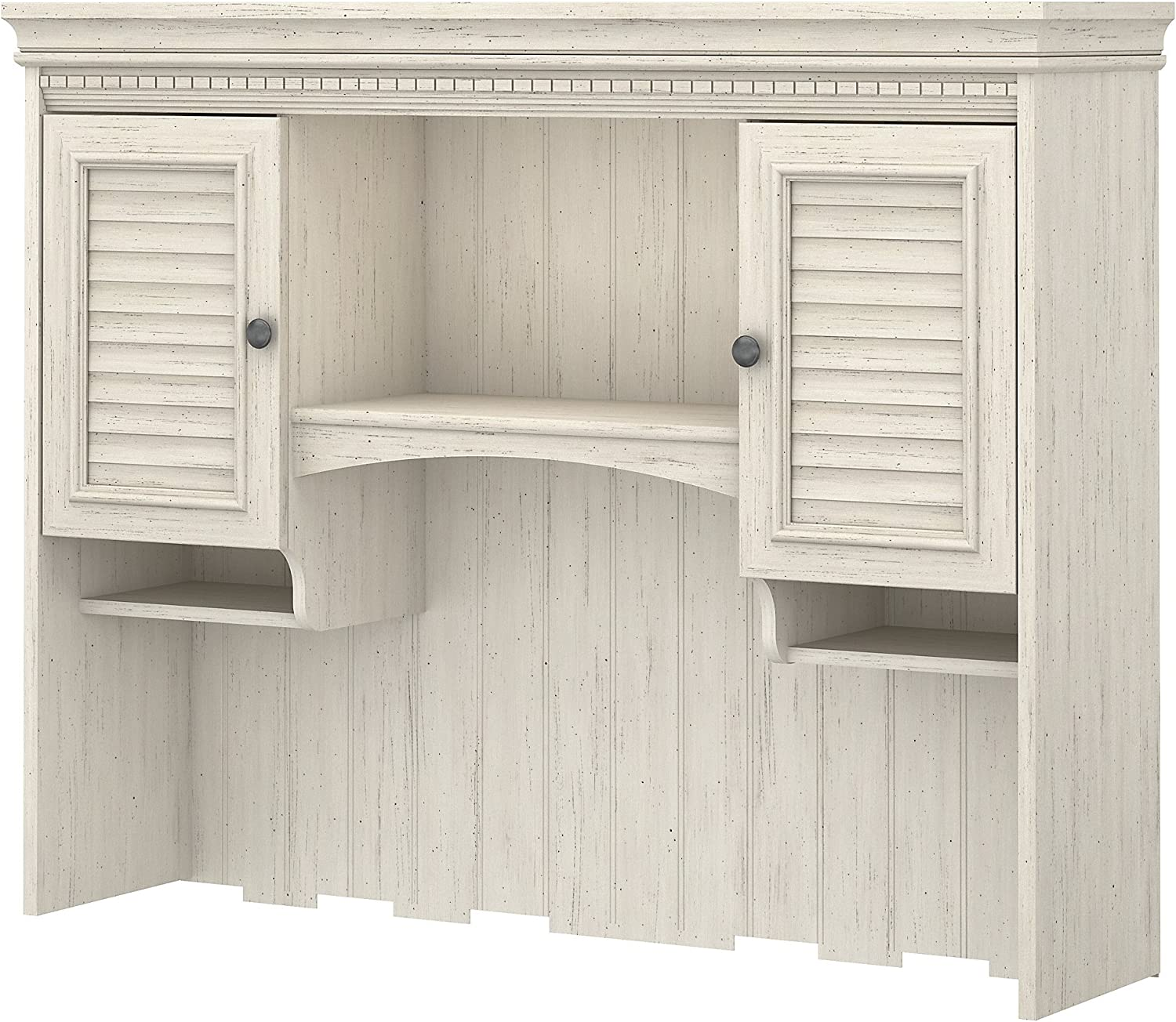Bush Furniture Stanford Hutch for Computer Desk in Antique White