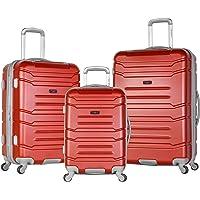 Olympia Denmark 3-Piece Luggage Set (Wine)