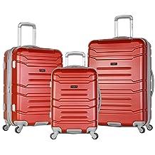 Olympia Denmark 3 Piece Luggage Set, Wine