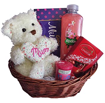 Mothers day gift baskethamper for her mum mummy chocolate mothers day gift baskethamper for her mum mummy chocolate teddy negle Images