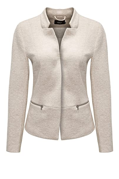 Only - Chaqueta de Traje - para Mujer Taupe Gray/Melange S ...