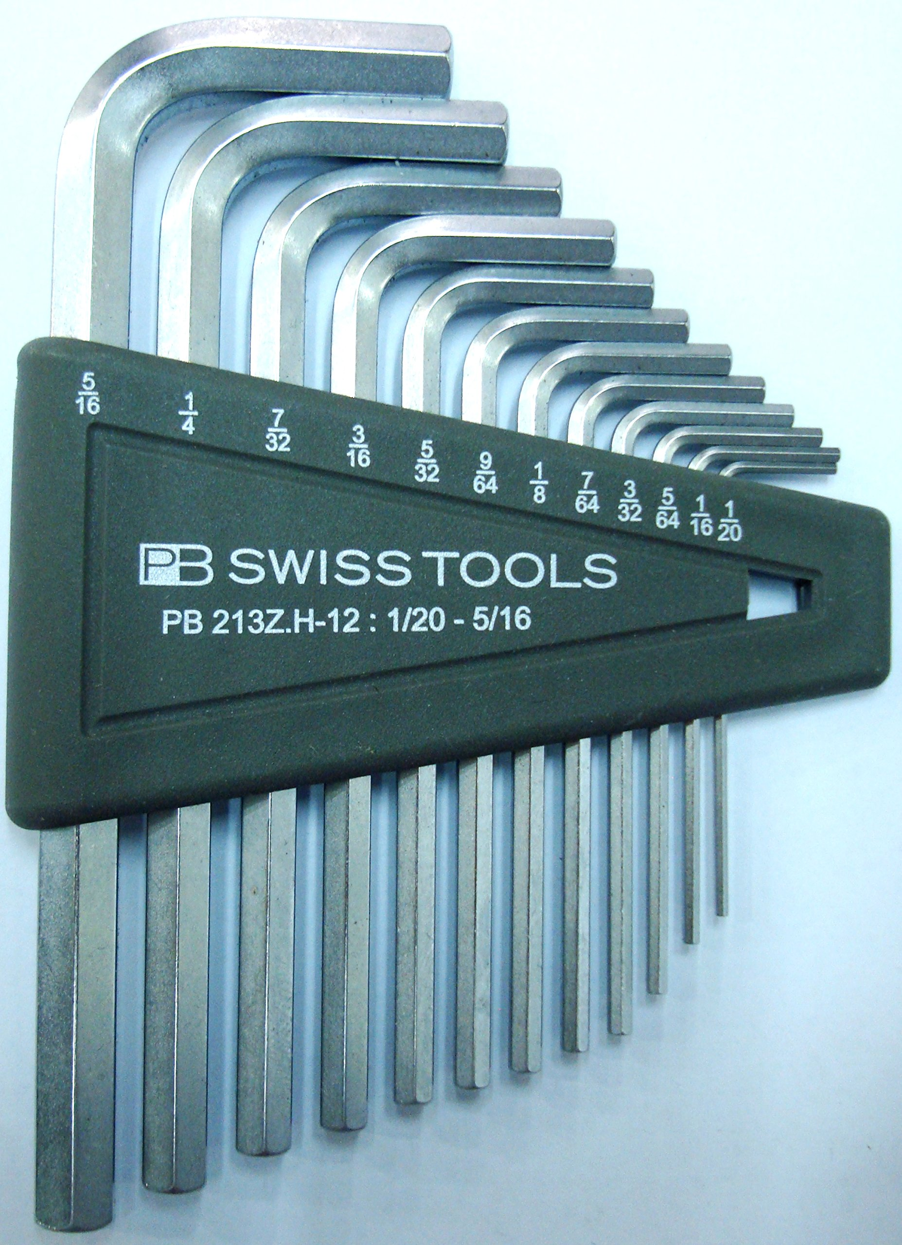 PB Swiss Tools Hex Key Set, chrome-plate, sizes 1/20''-5/16'' by PB Swiss