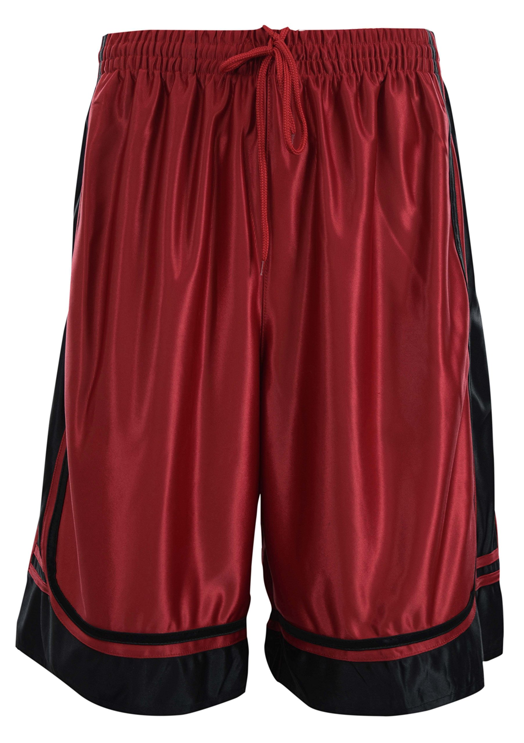 ChoiceApparel Mens Two Tone Training/Basketball Shorts with Pockets (S up to 4XL) (3XL, Red)