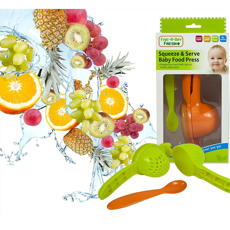 Squeeze & Serve Baby Food Press Feeding Spoon Fresh Healthy Food Puree BPA free The Magic Toy Shop