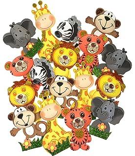 amazon com homeford fpf000120054 6 pairs safari animals foam