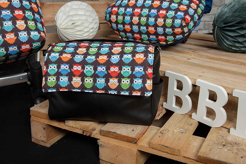 Babyline Estampado Búhos - Bolso de silla de paseo, Negro: Amazon.es: Bebé