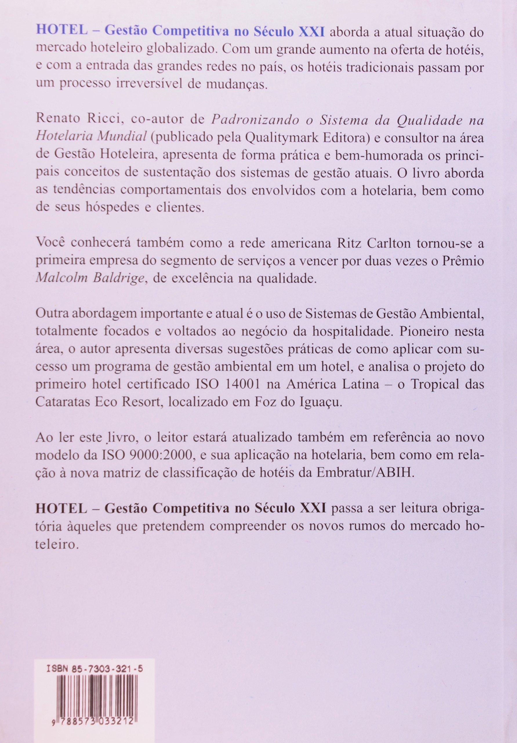 Hotel: Gestao Competitiva no Seculo X X I: Renato Ricci: 9788573033212: Amazon.com: Books