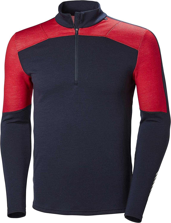 Shirt Helly Hansen Mens Hh LIFA Merino 1//2 Zip Longsleeve T