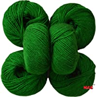 M.G 100% Acrylic Wool Green Baby Soft Wool Ball Hand Knitting Wool/Art Craft Soft Fingering Crochet Hook Yarn, Needle Knitting Yarn Thread Dyed